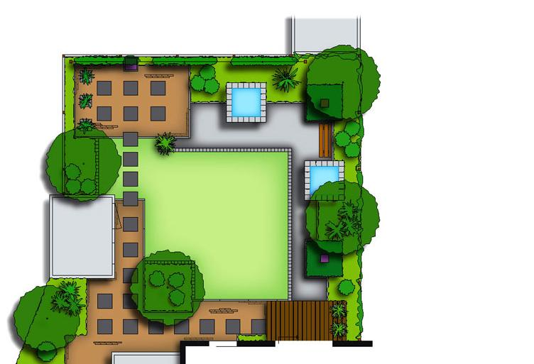 Zelf je tuin ontwerpen halve parasol for Tuin online ontwerpen